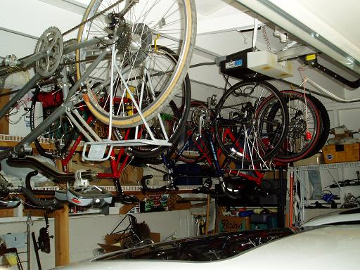 Bikes in the garage